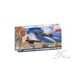 Eurofighter Typhoon et Supermarine Spitfire MkIIa 1/72 Airfix