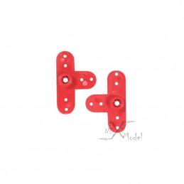 Palonnier de servo Futaba plastique noir (2) Trickbits