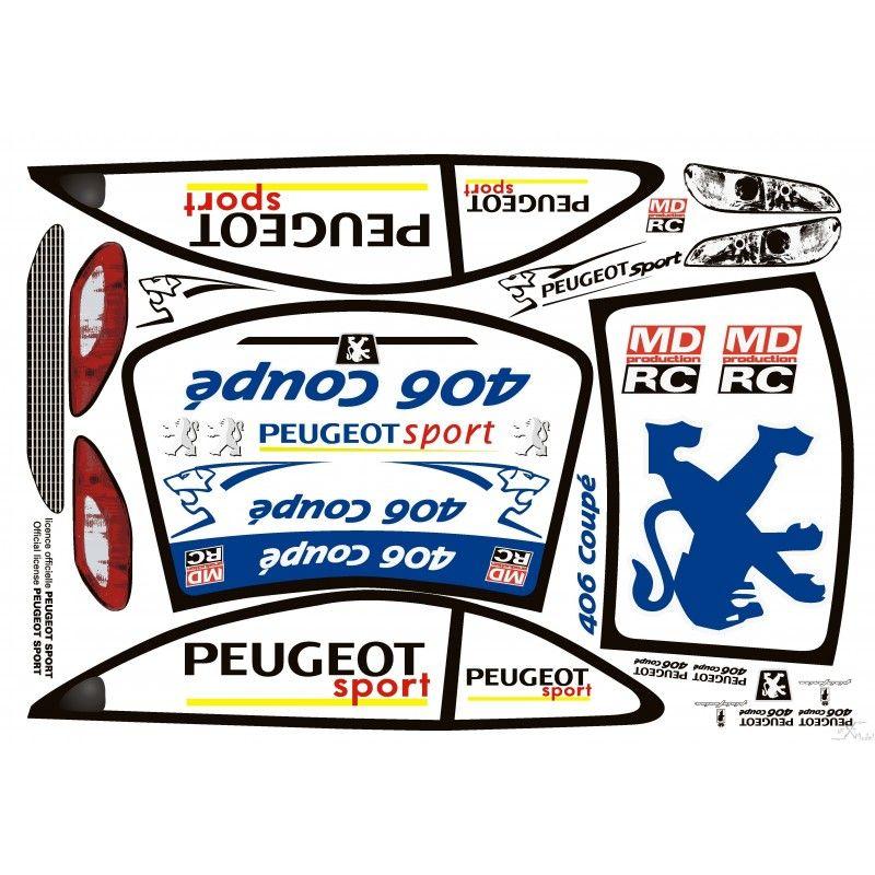 Autocollants carrosserie peugeot 406 coup 1 5 md production md 406 a - Kit carrosserie peugeot 406 coupe ...
