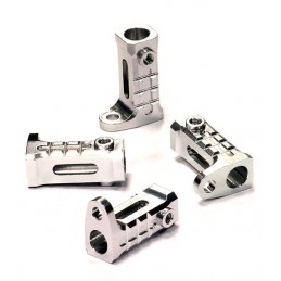 Support for rails alu Silver (4) Axial SCX-10