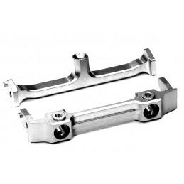 Front aluminium Axial SCX-10 silver bumper bracket