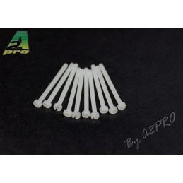 Nylon head screws flat 2x25mm (10) A2Pro