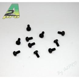 Nylon head screws flat 3x6mm black (10) A2Pro
