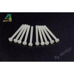 Nylon head screws flat 3x30mm (10) A2Pro
