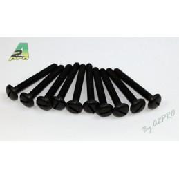 Nylon head screws flat 6x50mm (10) A2Pro