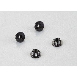 Nuts aluminum Black M4 4pcs 1/10 Killerbody