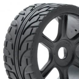 Tire rim black sticks Hobbytech 01 Rally Game Rally