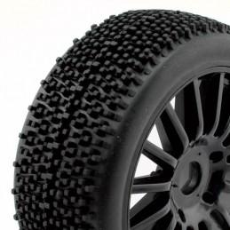 Tires Rocket on RIM black sticks TT 1/8 Hobbytech