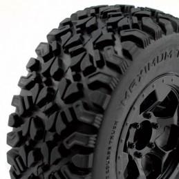 Optimo Short race tyres on RIM black Hobbytech
