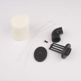 Filtre à air double mousse avec coude 1/8 Hobbytech