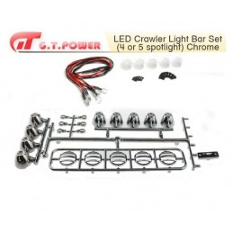 Rampe LED 5 spots universel crawler chrome GT-Power