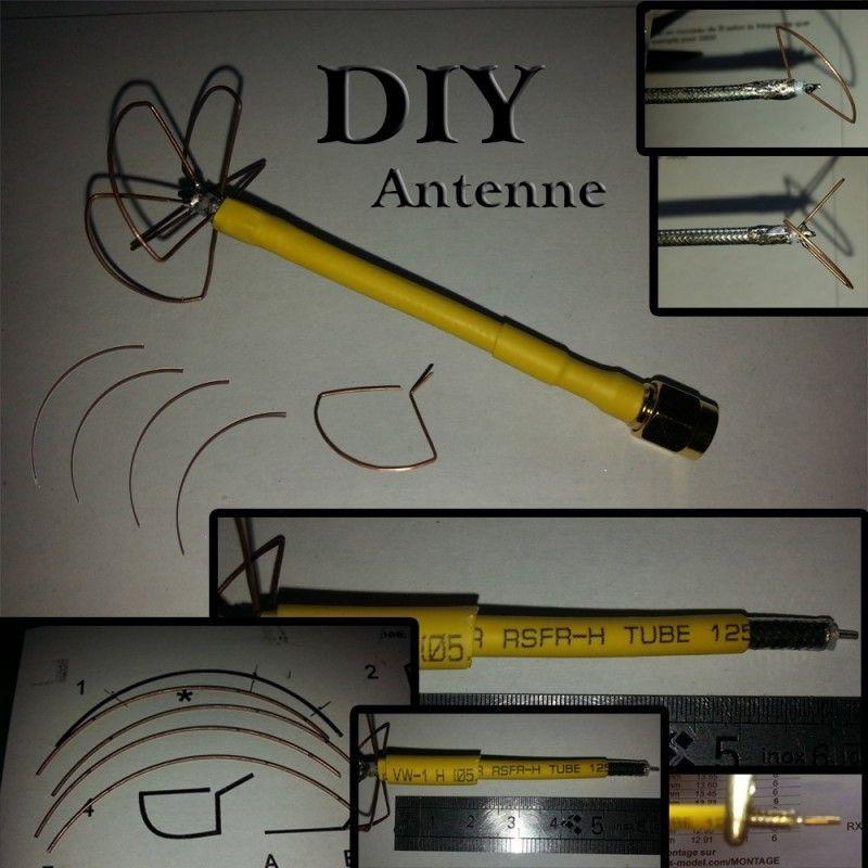 pack antenne diy 5 8 ghz fpv zmr250 diy antenne. Black Bedroom Furniture Sets. Home Design Ideas