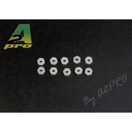 Nylon M3 nuts (10) A2Pro