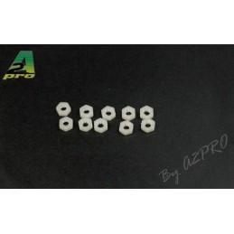 Ecrous nylon M4 (10) A2Pro