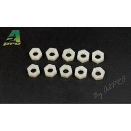 Nylon M6 nuts (10) A2Pro