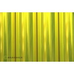 Entoilage Oracover Jaune fluo transparent 2m