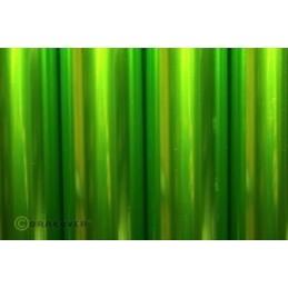 Entoilage Oracover Vert clair transparent 2m