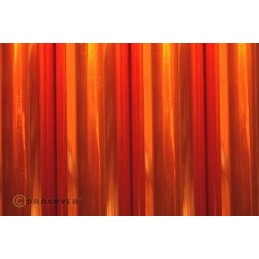 Interfacing Oracover Orange transparent 2 m