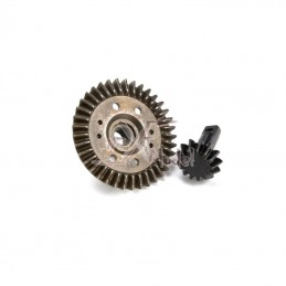 Crown + pinion differential
