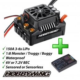 Inverter brushless EZRUN MAX8 V3 150 A 1/8 Hobbywing