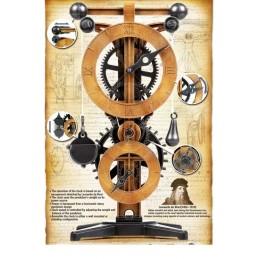 Horloge clock l onard de vinci academy 18150 - Horloge murale design italien ...