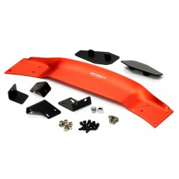 Aileron alu rouge 185mm avec support 1/10 piste Integy