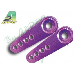 Palonnier servo alu simple Futaba violet 22mm