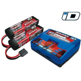 DUAL quick double charger 100W 2972G + 2X Lipo 3 S 5000mAh 2872 X Traxxas