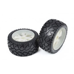 Wheels tracks to chevron on rims to fight white T2M