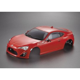 Carrosserie Toyota 86 peinte rouge 1/10 195mm Killerbody