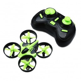 Micro drone E010 RTF vert ou rouge