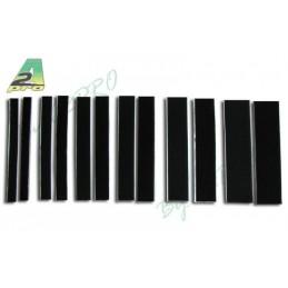 Self-adhesive Velcro M/F black 50mm x 20cm A2pro