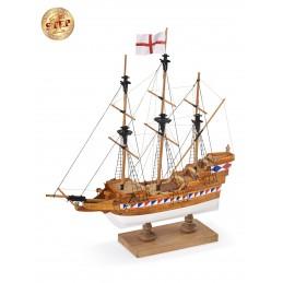 Elizabethan Galleon 1/135 model boat start wooden Amati