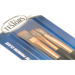 Set of 3 Red sand of Testors flat brushes