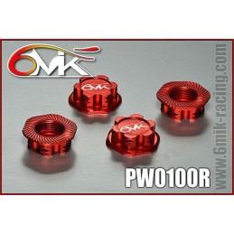 Ecrous de roue borgne 1.0mm rouge 6Mik