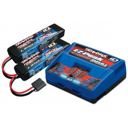 Chargeur double rapide DUAL 100W 2972G + 2X Lipo 2S 7600mAh 2869X Traxxas