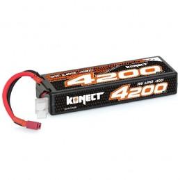 Li-Po 4200mAh 40C 3S 11.1V coqué (Dean) Konect