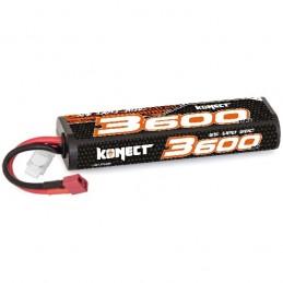 Li-Po 3600mAh 30C 2S 7.4V coqué (Dean) Konect