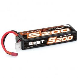 Li-Po 5200mAh 50C 2S 7.4V coqué (Dean) Konect