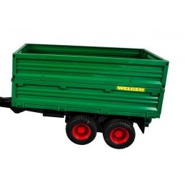 Remorque à double essieux pour tracteur 1/16 Bruder
