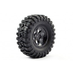 Roue crawler Outback jante 6 rayons noires 1/10 (2) FTX