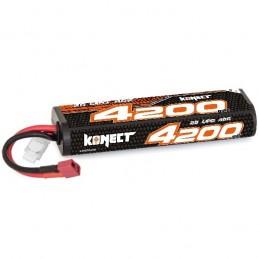 Li-Po 4200mAh 40C 2S 7.4V coqué (Dean) Krypton