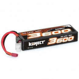 Li - Po 3600mAh 30 c 3S 11.1V hull (Dean) Konect