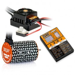 Combo brushless 1/10 ESC WP 50A + moteur 4P 3652SL 4000KV + carte prog. Konect