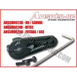 Lockable Black Aluminum Futaba servo rudder