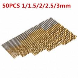 Lot de 50 forets 1/1.5/2/2.5/3mm plaqué titane