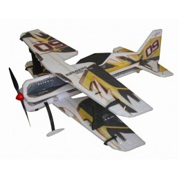 Crack Pitts yellow Backyard Series 755mm RC Factory EPP Kit