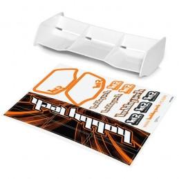 Spoiler buggy Racing white HTR 1/8 + stickers HobbyTech