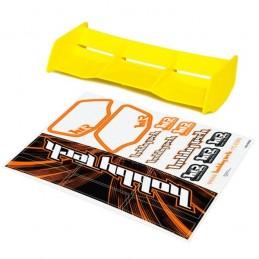 Spoiler buggy Racing yellow HTR 1/8 + stickers HobbyTech
