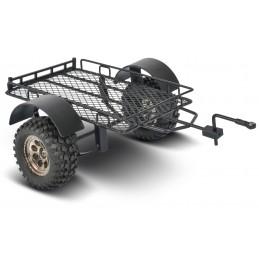 Remorque utilitaire grillagée noire pour Scale Crawler 1/10 Carson